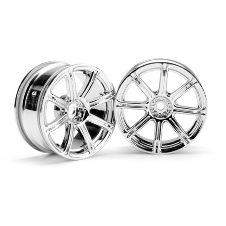 WORK EMOTION XC8 WHEEL 26mm CHROME (3mm OFFSET)