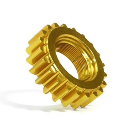 ALUMINUM THREADED PINION GEAR 21Tx12mm (1M)