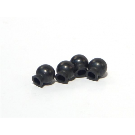 BALL 6.8x7.3x3mm (BLACK/4pcs)
