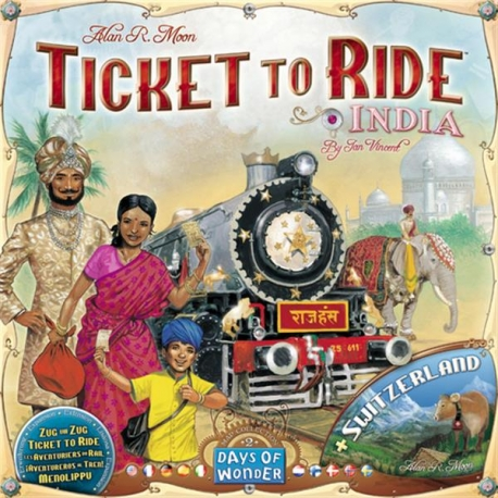 Ticket to Ride papildymas: India & Switzerland