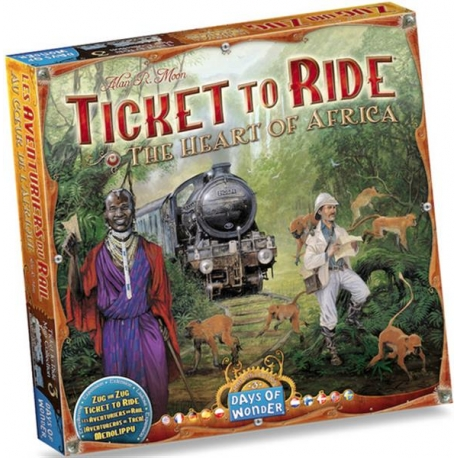 Ticket to Ride papildymas: The Heart of Africa