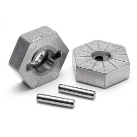 HEX WHEEL HUB 17mm (SILVER/4pcs)