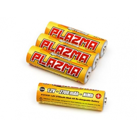 PLAZMA 1.2V 2700mAh Ni-MH AA Battery (4Pcs)
